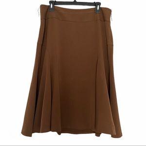 Bandolino stretch midi career skirt brown 12